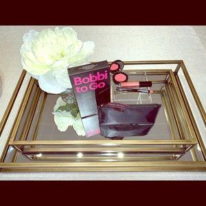 Bobbi Brown Lip and Cheek set with Cosmetic Bag